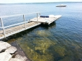 Floating dock w access rmp