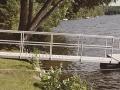Gangway in water